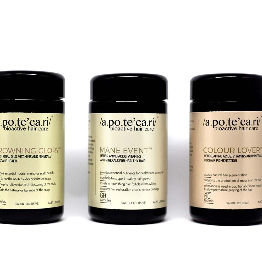 apotecari bioactive hair care - the produect range