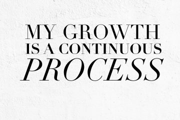 Growth is a continuous process